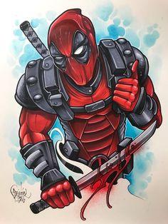 Deadpool t - Marvel Deadpool Tattoo, Deadpool Y Spiderman, Dead Pool, Marvel Drawings, Cartoon Drawings, Marvel Art, Marvel Dc Comics, Marvel Avengers, Comic Tattoo
