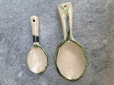 My own ceramic serving spoons