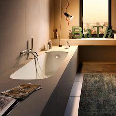 Rectangular undermount bathtub DEK By White Bathroom, Master Bathroom, Wellness Spa, Cover Gray, Home Spa, Corner Bathtub, Room Decor, Bathrooms, Bathtubs
