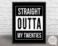 Straight Outta My Twenties DIGITAL Sign PRINTABLE 30th Birthday Poster 30th Birthday Decorations  sc 1 st  Pinterest & Cheers to 30 Years Banner | 30th Birthday Decorations | 30 Birthday ...