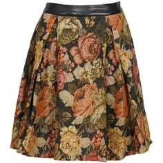 Parisian Floral Print Pleated Full Midi Skirt in Black (5.540 HUF) ❤ liked on Polyvore featuring skirts, bottoms, faldas, floral, floral print midi skirt, floral midi skirts, full skirts, pleated skirt and midi skirt