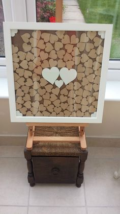 Wedding Guest Book Heart Drop Box Frame in Home, Furniture & DIY, Wedding Supplies, Guest Books & Pens | eBay