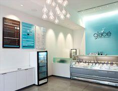 glace artisan ice cream #interior #design #identity