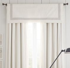 appliquéd frame cotton canvas valance
