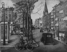 Van der Helstplein by Toon van der Muysenberg, 1936. Stadsarchief Amsterdam