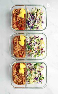 Hawaiian BBQ Chicken and Slaw Meal Prep