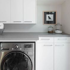 Loving Your Laundry - Katrina Stumbos Laundry Room Design, Laundry Rooms, Quartz Countertops Colors, Front Load Washer, Washer And Dryer, Sports Uniforms, Home Appliances, Interior Design, Space