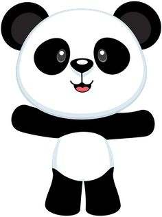 border clip art featuring cute pandas bamboo and paw prints free rh pinterest com panda bear clipart free cute panda bear clipart