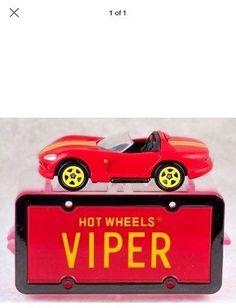 Hot Wheels License Plate Series Red Viper In Case 1/64 Diecast Car In Plastic #HotWheels #Dodge