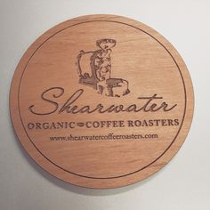 Do you have a cool business logo? Advertise with coasters  Design your own! #coasters #wood #custom #design #coffee