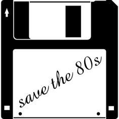 3,5 Zoll Diskette - save the 80s - Ein 3,5 Zoll Diskette mit der Aufschrift - save the 80s.