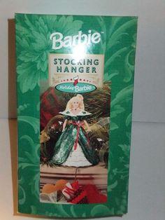 NIB BARBIE DOLL 1996 HAPPY HOLIDAY HOLIDAYS CHRISTMAS STOCKING HANGER