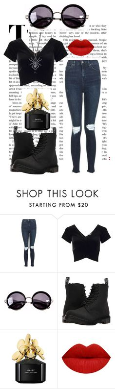 """""""Untitled #44"""" by twobananas666 ❤ liked on Polyvore featuring Topshop, Miss Selfridge, Linda Farrow, Dr. Martens and Marc Jacobs"""