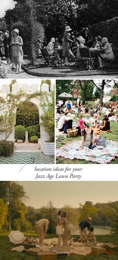 Adored Vintage - How to throw a jazz age lawn party