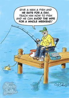 Looks Good on Paper Comic Strip on GoComics.com Fishing humor