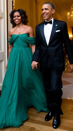 Michelle Obama stuns in emerald Marchesa gown at Kennedy Center Honors