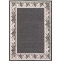 5'3 x 7'7 Knossos Rug in Black and Light Gray