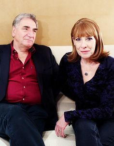 Downton Downstairs..2015 Phyllis Logan and Jim Carter..