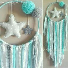Colours for zeb Pom Pom Crafts, Felt Crafts, Diy And Crafts, Crafts For Kids, Arts And Crafts, Dreamcatcher Crochet, Dreams Catcher, Craft Projects, Projects To Try