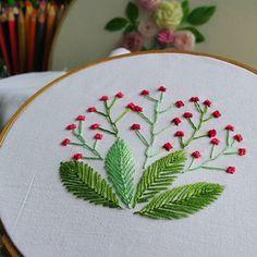 Instagram photo by embroidery_prin - #flystitch #featherstitch #Germanknot #embroidery #embroideryart #handembroidery #art #handmade #needlework #diy #craft #handicraft #stitching #embroideryfloss #needlecraft #hobby #idea #stitch