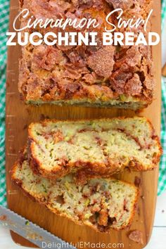 Cinnamon Zucchini Bread, Carrot Bread Recipe, Best Zucchini Bread, Fruit Bread, Delicious Desserts, Yummy Food, Yummy Treats, Yummy Recipes, Recipies