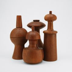 I used to work for Dansk! timeless design lives on in these pepper mills, Jens Quistgaard / Dansk Nordic Design, Scandinavian Design, Danish Modern, Mid-century Modern, Teak, Wooden Pepper Mill, Vases, Mid Century Design, Wood Turning