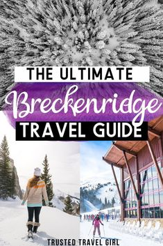 This is the Ultimate Guide to Breckenridge Colorado in Winter! What to do in Breckenridge, Colorado – from skiing, snowshoeing, … Breckenridge Ski Resort, Breckenridge Colorado, Colorado Winter, Colorado Trip, Skiing Colorado, Colorado Mountains, Usa Travel Guide, Travel Usa, Travel Tips
