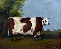 Buy online, view images and see past prices for EDWIN M. FOX (flourished British Prize Cow in Landscape Oil on canvas Signed 58 x 48 cm, framed. Invaluable is the world's largest marketplace for art, antiques, and collectibles. Cow Paintings On Canvas, Cow Canvas, Animal Paintings, Animal Drawings, Oil On Canvas, Hereford Cattle, Cow Art, Primitive Folk Art, Canvas Signs