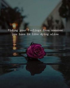 Hiding your feelings from someone you love is like dying alive.. via (https://ift.tt/2Lxn5qL)