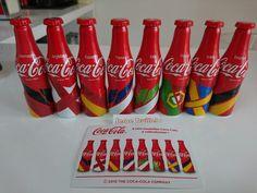 Set de 8 MINI Bouteilles Coca-Cola EURO 2016 FRANCE Aluminium/Coke Bottle | eBay