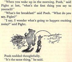 Poooh & piglet. Nice talk