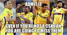 Chennai Super Kings #CSK   http://www.crickettrolls.com/2015/12/11/we-all-are-going-to-miss-chennai-super-kings/