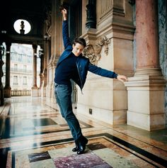 Germain Louvet, à fond les ballets - Photo Mathieu Zazzo pour «Libération». #Culture #GermainLouvet #Danse #PalaisGarnier #balletoperadeparis #Ballet