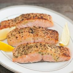 Broiled Salmon with Herb Mustard Glaze: ready in just 10 minutes - easy enough for a weeknight, but good enough to serve company!