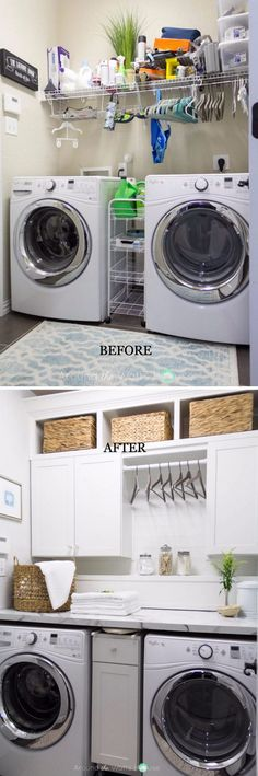 Practical Home laundry room design ideas 2018 Laundry room decor Small laundry room ideas Laundry room makeover Laundry room cabinets Laundry room shelves Laundry closet ideas Pedestals Stairs Shape Renters Boiler Laundry Room Remodel, Laundry Room Cabinets, Laundry Room Organization, Organization Ideas, Laundry Shelves, Laundry Storage, Small Laundry Rooms, Laundry Room Design, Laundry Pods