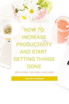 Whether you're a blogger, freelancer or small business owner, you're definitely going to want to pick up some productivity tips for all the tasks you're going to be faced with. Fancy a challenge? You've got one, there's also a free 7 Day Email Challenge for you to take part in.