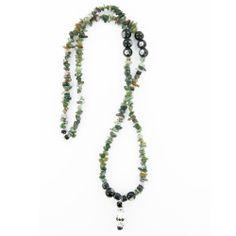 Collier création artisanal style sautoir en aventurine, bijoux créateur fait main. Pièce unique.