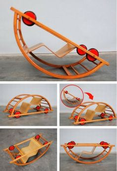 Rocking chair by Germany Hans Brockhage design rocking chair