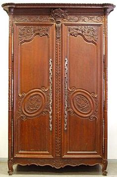 large french louis xv pale walnut armoire louis xvi products and french. Black Bedroom Furniture Sets. Home Design Ideas