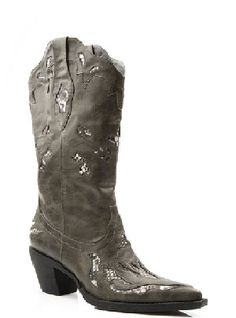Women's cowboy Boots Faux Leather