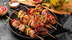 American lamb shoulder and leg meat are perfect for making kebabs. Here, the tang of balsamic vinegar and a few flavorful herbs enhance the tender meat. #Kebabs are a staple of #summer, right? Step up your game with these tangy and flavorful balsamic and rosemary American Lamb kebabs! Lamb Kebabs, Tender Meat, Lamb Shoulder, Stuffed Mushrooms, Stuffed Peppers, Ground Coriander, Balsamic Vinegar, Skewers, Tandoori Chicken