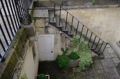stairs to servants' entrance, Bath