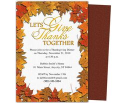 Thanksgiving party invitations templates on pinterest for Thanksgiving invitation templates free word