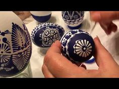 Tutorial turquoise hand painted mandala glass ornament by Gitka Schmidtova - YouTube