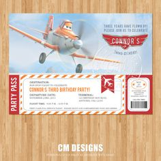 Disney Planes Birthday Invitation by DesignsbyCassieCM on Etsy