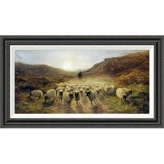 Global Gallery 'Leaving the Hills' by Joseph Farquharson Framed Painting Print Size: 2