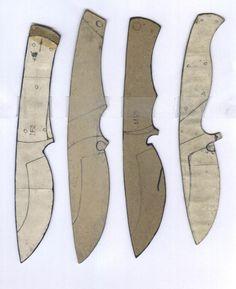 Make your own knife - Blade shapes #survivalknives
