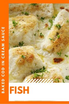 I halved the Fish Recipes as shown on this pin, and it made for a perfect cuisine! | Fish Recipe Salmon | Keto Fish Recipe | Fried Fish Recipe | Fish Recipes | Fish | Fish Recipe Healthy | Fish Recipe Tilapia | Fish Recipe Baked Grilled Fish Recipes, Tilapia Fish Recipes, Healthy Salmon Recipes, Easy Fish Recipes, Baked Cod Recipes, Baked Cod Fillets, Sauce A La Creme, Pollock Fish Recipes, Baked Fish