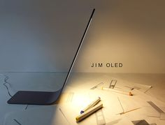 Jim Oled Desk Lamp: An Extremely-Skinny Simplistic Lighting - http://www.interiorblogdaily.com/interior-design-ideas/jim-oled-desk-lamp-an-extremely-skinny-simplistic-lighting/  Desk, ExtremelySkinny, Lamp, Lighting, Oled, Simplistic