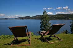 Relax and Enjoy this everyday on Lake Coeur d'Alene!  3571 E Bridgeview Dr, Harrison, ID 83833 - Harrison Real Estate